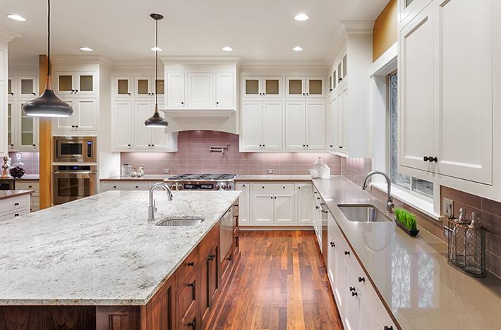 granite backsplash or tile backsplash